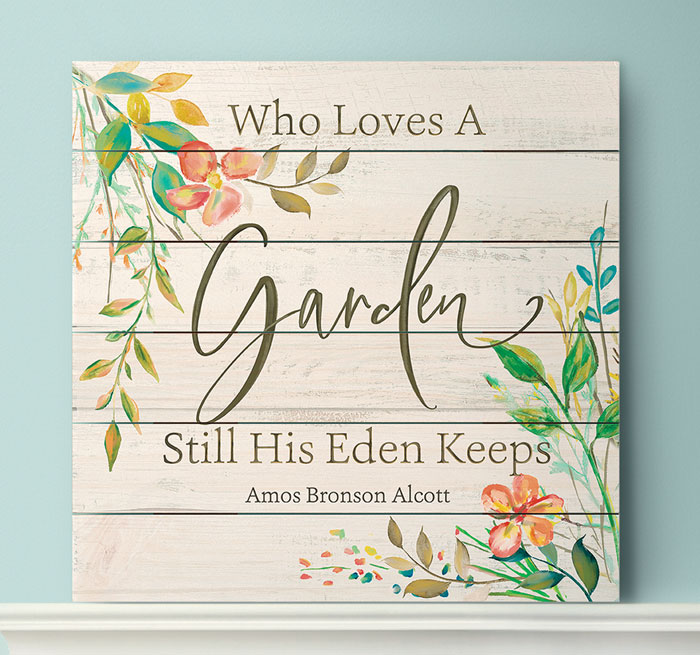 1926: Who Loves a Garden Sign (Product Detail)