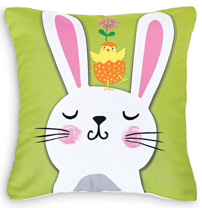 4855: Bunny With Chick Pillow (Product Detail)