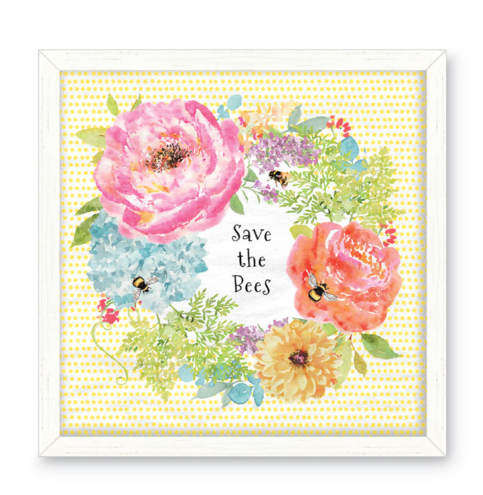 9155: Save the Bees Wall Art (Product Detail)