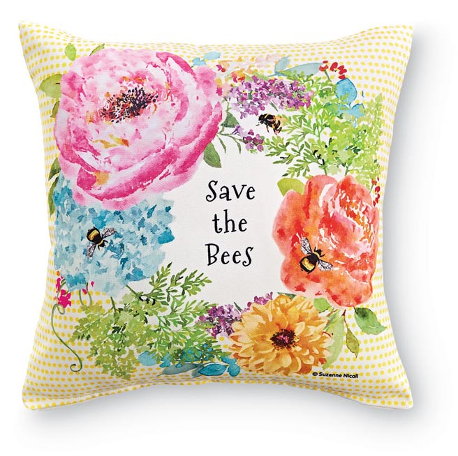4300: Save the Bees Pillow (Product Detail)