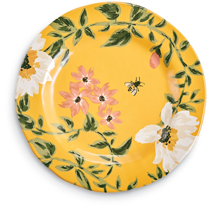 3044: Bees and Flowers Dinner Plate (Set of Four) (Product Detail)