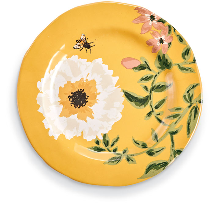 3045: Bees and Flowers Salad Plate (Set of Four) (Product Detail)