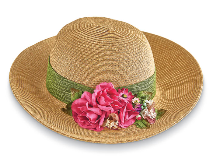 4123: Sun Hat with Roses (Product Detail)