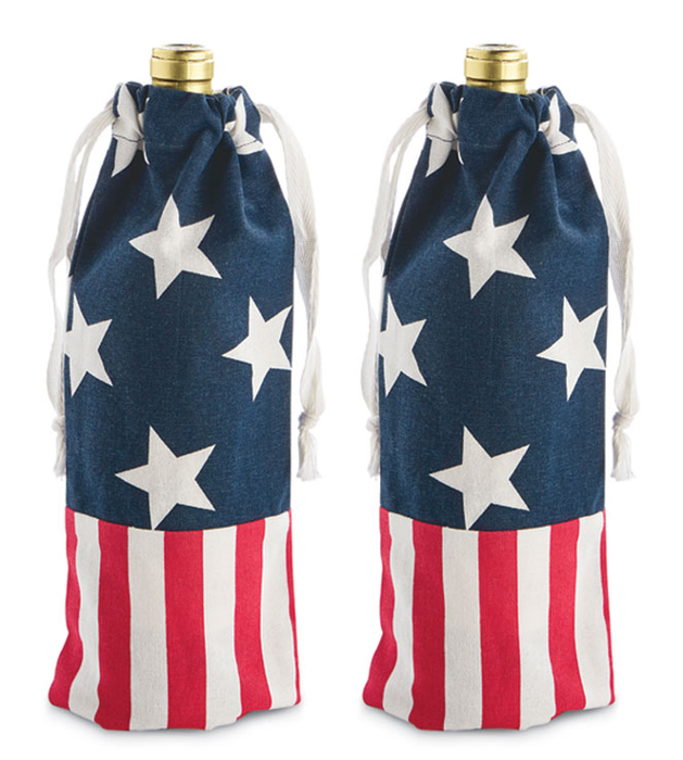 3120: Americana Wine Bags (Set of Two) (Product Detail)