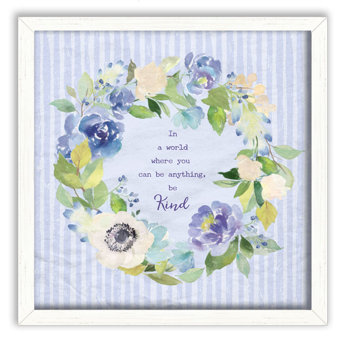 278899: Floral Wreath Wall Art - Kind (Sample) (Product Detail)