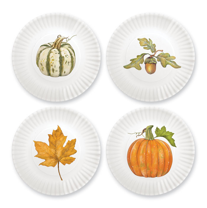 4464: Fall Plates (Set of Four) (Product Detail)