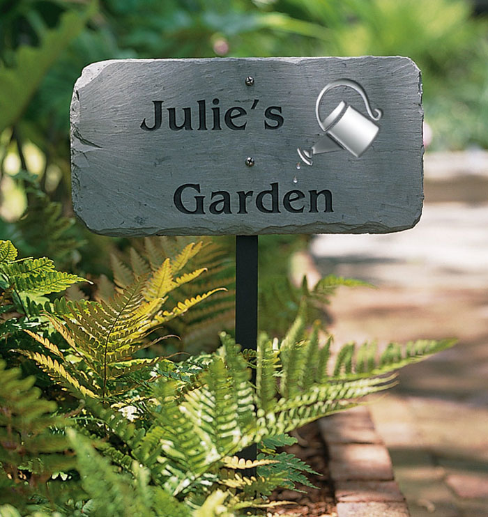 Contemporary Garden Sign Can Personalized I And Design Inspiration