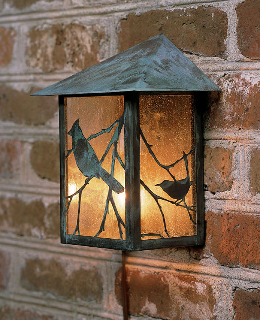 1243: Songbird Copper Wall Lantern (Product Detail)