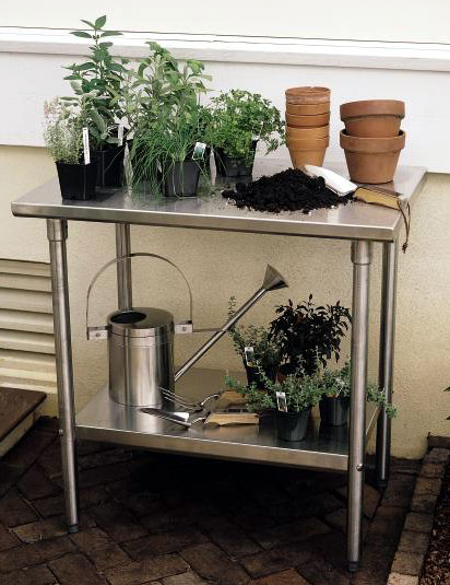 """7051: Stainless Steel Table 36""""L (Product Detail)"""