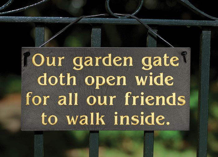 """8245: """"Our Garden Gate"""" Sign (Product Detail)"""