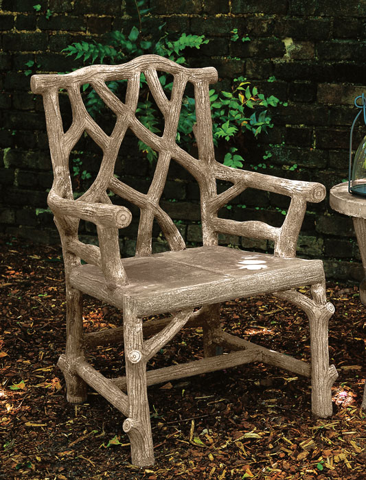 1755: Faux Bois Woodland Armchair (Product Detail)