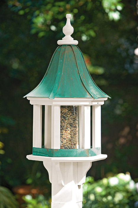 1912: Bird Feeder with Verdigris Roof (Product Detail)
