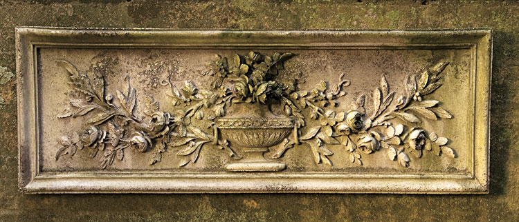 9720: Floral Urn Wall Plaque (Product Detail)