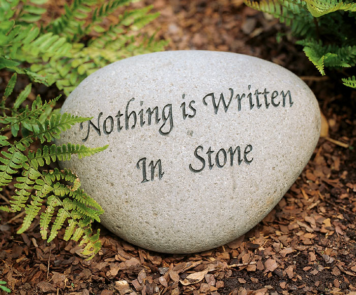 1194: Garden Stone - Nothing is Written in  Stone (Product Detail)
