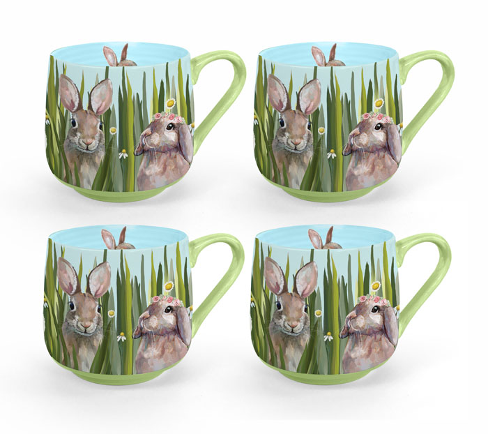 1024: Bunny Bunch Mugs (Set of Four) (Product Detail)