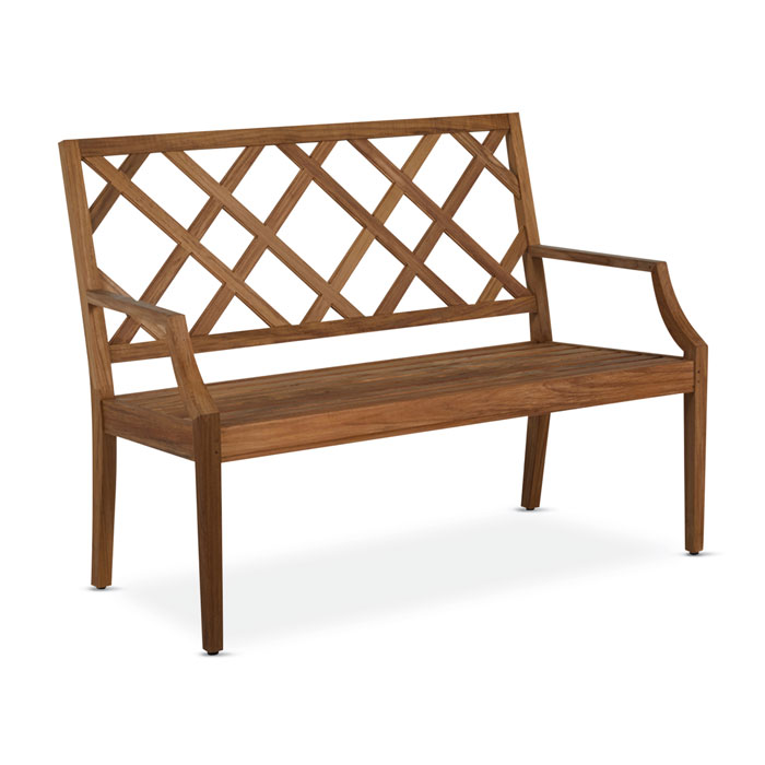 1847: Lattice Teak Bench 4