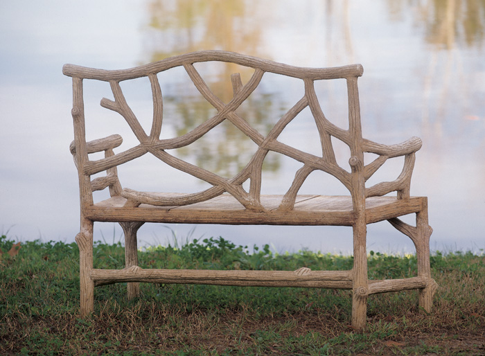 Outdoor Furniture / Benches. 2050: Faux Bois Woodland Bench (Product Detail)
