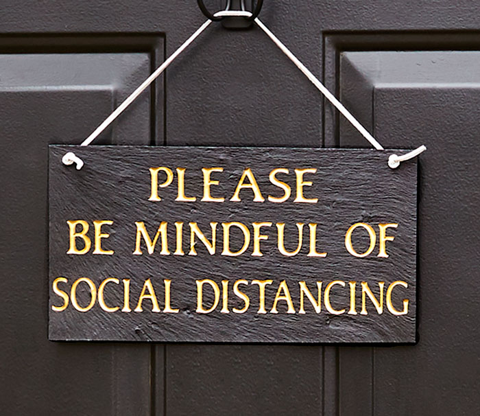 202299: Mindful of Social Distancing Sign (Sample) (Product Detail)