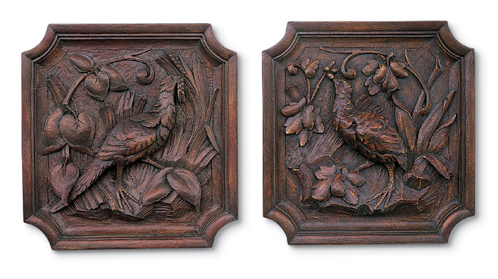 2303: Pheasant Plaques (Set of Two) (Product Detail)
