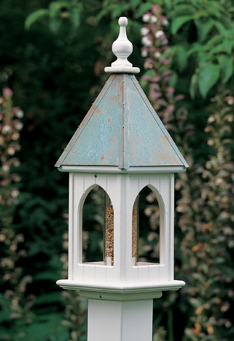 2316: Bird Feeder with Patina Roof (Product Detail)