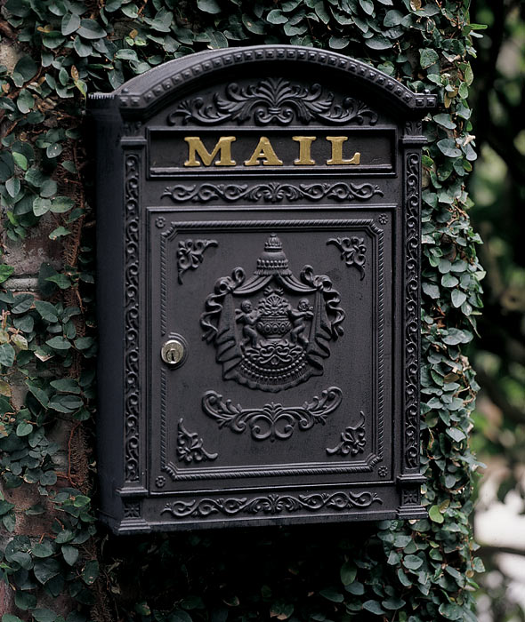 2330: Victorian Mailbox - Black (Product Detail)
