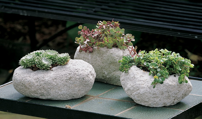 2399: Volcanic Rock Planters (Set Of Three) (Product Detail)
