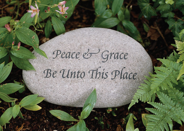 2464: Garden Stone - Peace and Grace  (Product Detail)