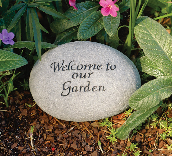 2854: Garden Stone - Welcome to Our Garden  (Product Detail)