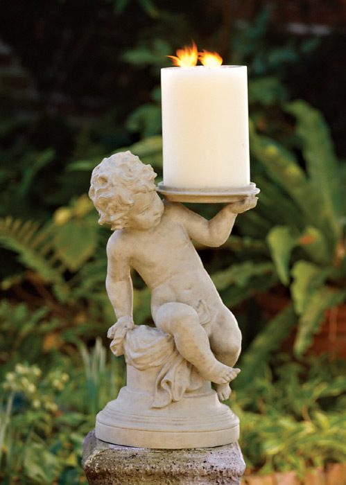 2674: Cherub Candle/Plant Holder (Product Detail)
