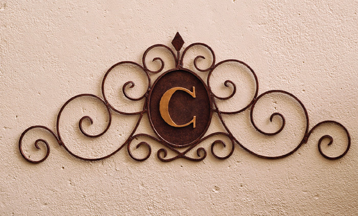 2822: Scrolled Iron Wall Grille with Monogram (Product Detail)