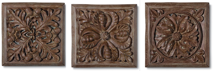 2814: Floral Plaques (Set of Three) (Product Detail)