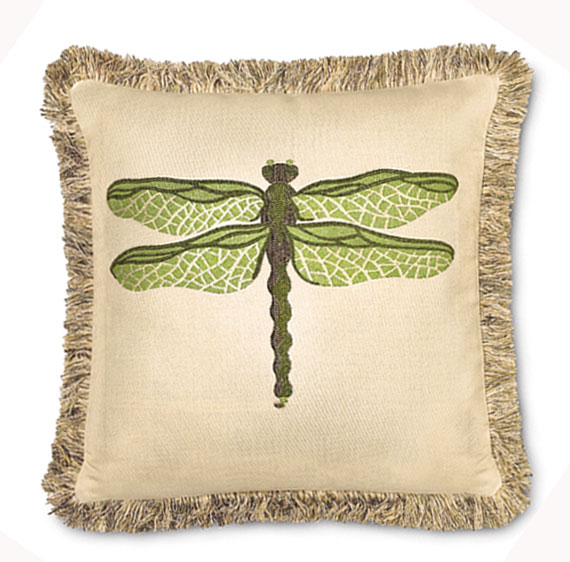 2897: Dragonfly Pillow - Green (Product Detail)