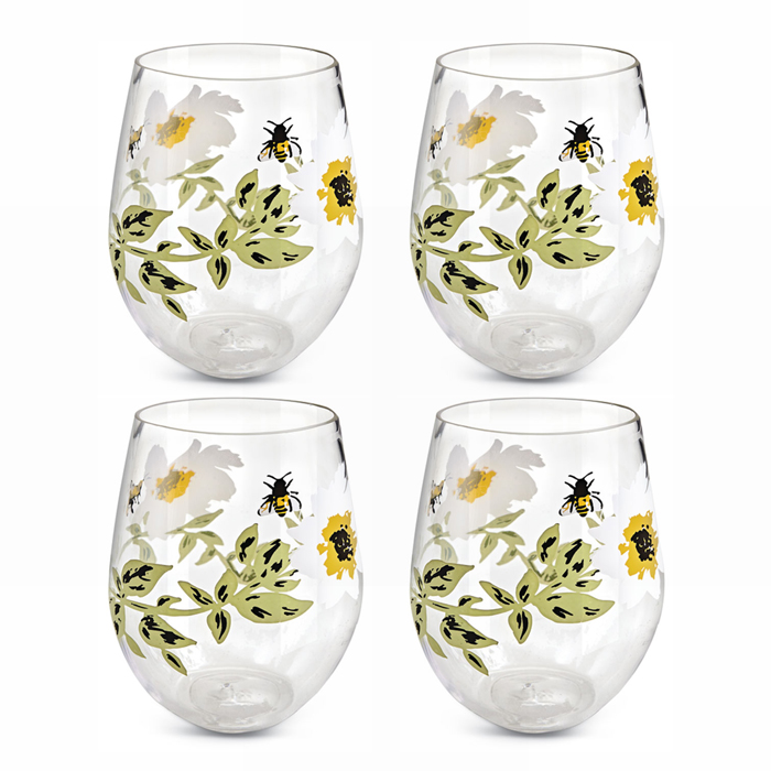 3046: Bees and Flowers Tumbler (Set of Four) (Product Detail)