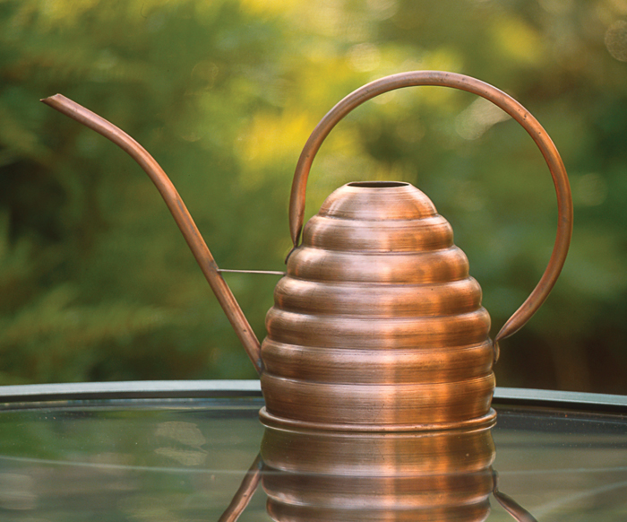 3022: Copper Beehive Watering Can (Product Detail)