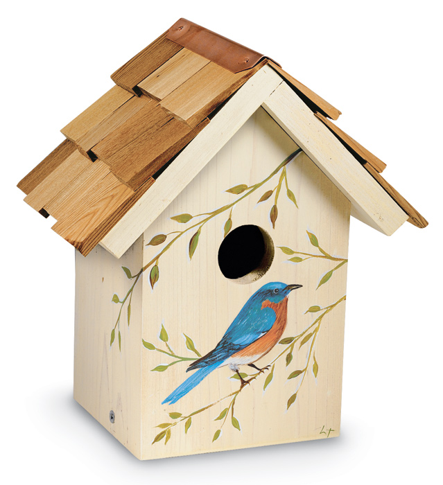 3387: Hand-Painted Bluebird House (Product Detail)