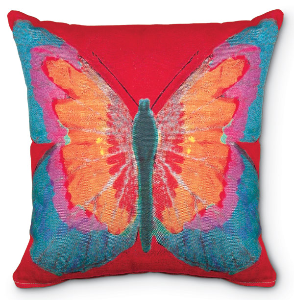 3937: Butterfly Pillow - Red (Product Detail)