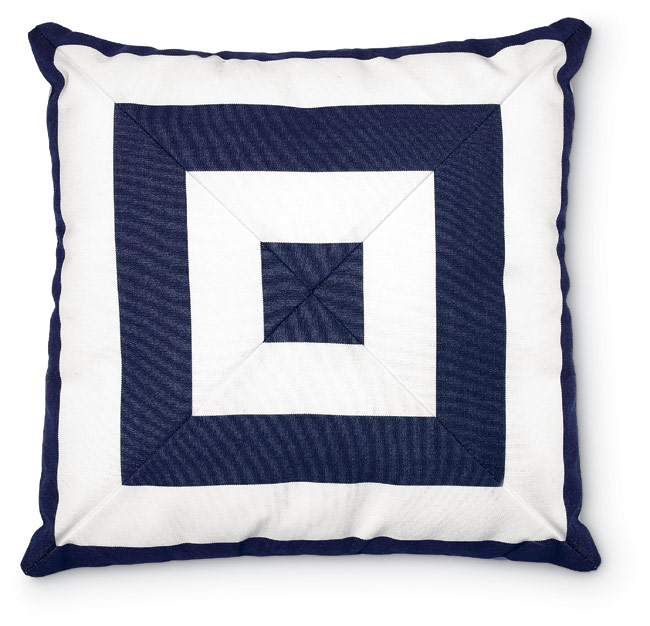 3942: Nautical/Navy Mitered Pillow (Product Detail)