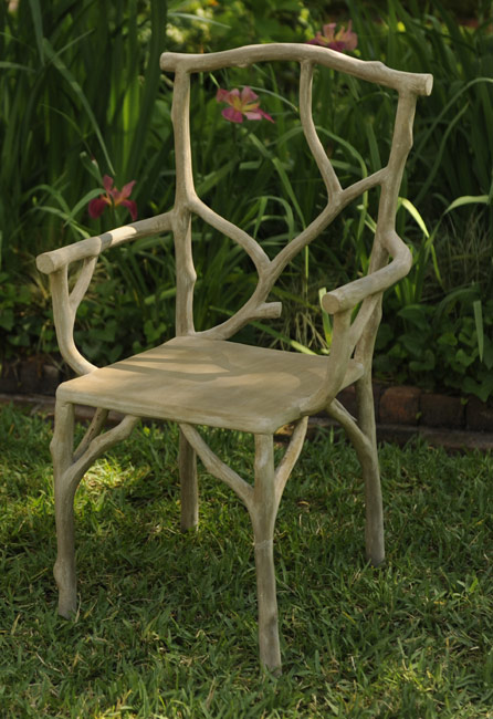 3972: Faux Bois Branch Chair (Product Detail)