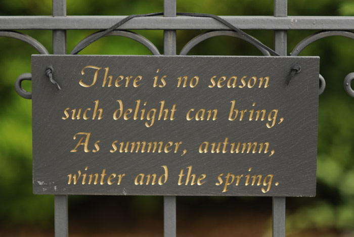 """4013: """"There Is No Season"""" Sign (Product Detail)"""