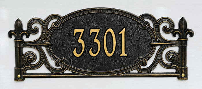 4094: Charleston Wall Address Sign (Product Detail)