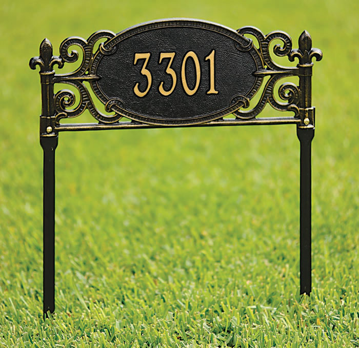 4095: Charleston Lawn Address Sign (Product Detail)