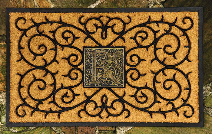 4117: Monogram Coir Doormat (Product Detail)