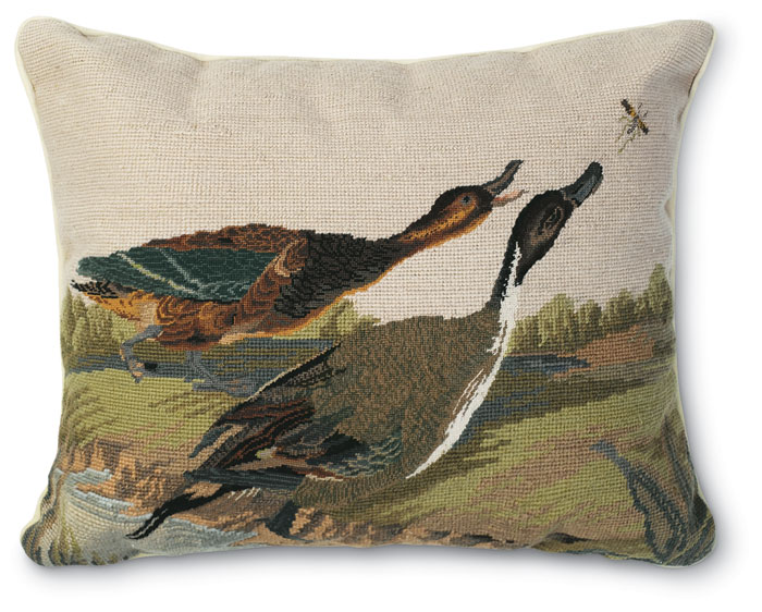 4119: Duck (Pintail) Needlepoint Pillow (Product Detail)