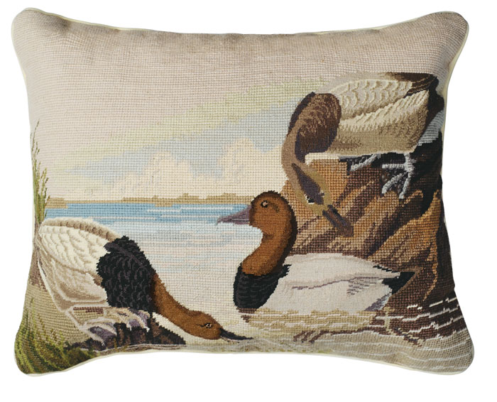 4120: Duck (Canvasback)  Needlepoint Pillow (Product Detail)