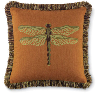 4287: Dragonfly Pillow - Copper (Product Detail)