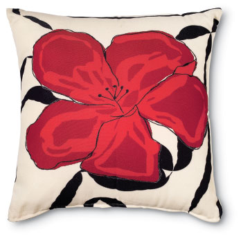 4297: Flower Pillow - Red (Product Detail)