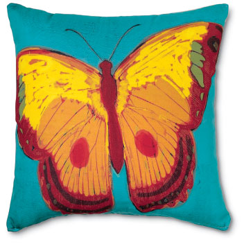 4298: Butterfly Pillow - Yellow (Product Detail)