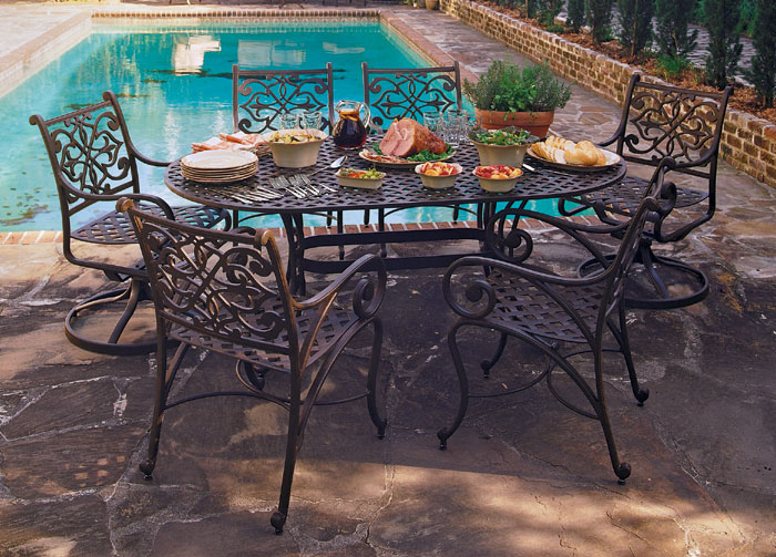 """1737: Ashley Oval Table (87""""L) with Eight Armchairs (Product Detail)"""