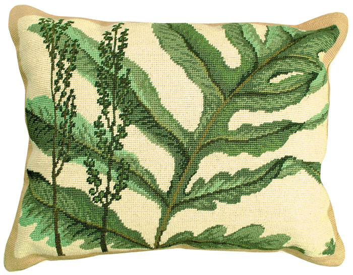 4866: Fern Study Needlepoint Pillow (Product Detail)