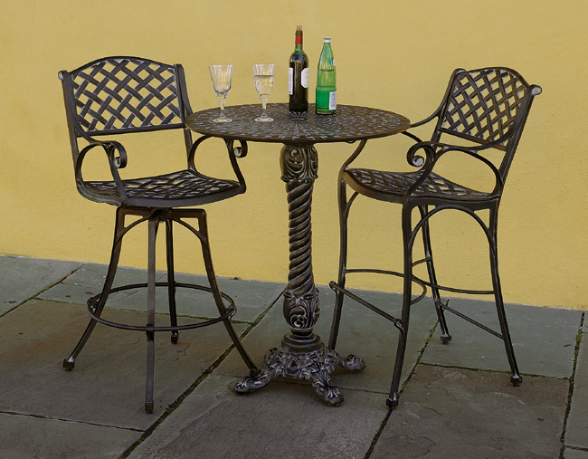 9769: Drayton High Table and Two High Chairs (Product Detail)
